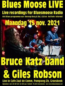 Giles Robson and Bruce Katz band  14 november 2021 poster